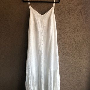Red dress boutique white bridal maxi dress medium